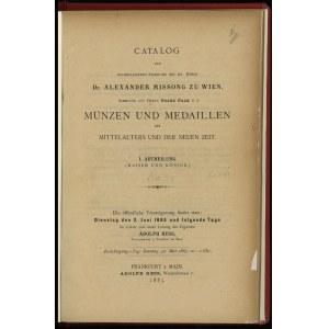 Adolph Hess, Catalog der nachgelassenen Sammlung des se...