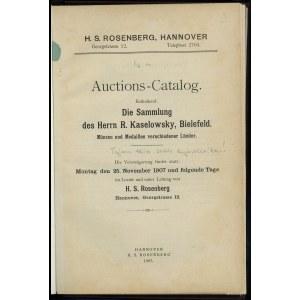 H. S. Rosenberg, Auktions-Catalog Enthaltend Die Sammlu...