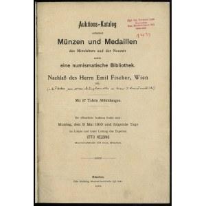 Otto Helbing, Auktions-Katalog enthaltend Münzen und Me...