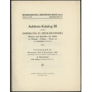 Albert Riechmann, Auktions-Katalog III enthaltend Samml...