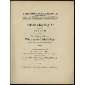 A. Riechmann & Co., Auktions-Katalog XI enthaltend: Ein...