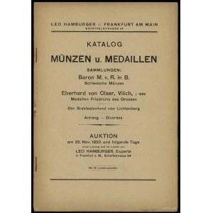 Leo Hamburger, Auktions-Katalog Münzen u. Medaillen. Sa...