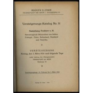 Adolph E. Cahn, Versteigerungs-Katalog No. 51, Sammlung...