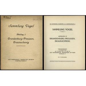 Leo Hamburger, Sammlung Vogel. Abteilung III. Brandenbu...