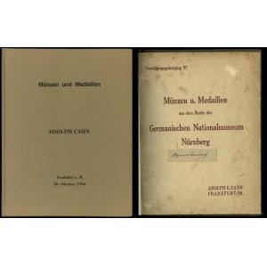 Adolph E. Cahn, Versteigerungskatalog 57. Münzen u. Med...