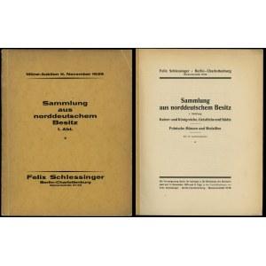 Felix Schlessinger, Münz-Auktion Sammlung aus norddeuts...