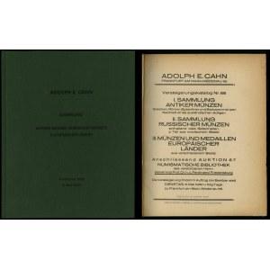 Adolph E. Cahn, Versteigerungskatalog Nr. 66. I. Sammlu...