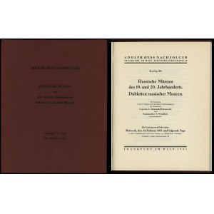 Adolph Hess Nachfolger, Katalog 204. Russische Münzen d...