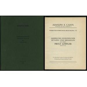 Adolph E. Cahn, Versteigerungs-Katalog 73. Sammlung sch...