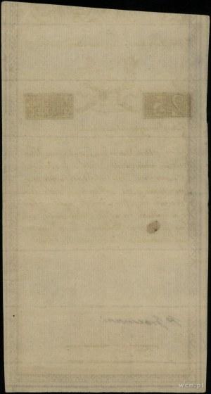 25 złotych, 8.06.1794; seria B, numeracja 29242, papier...