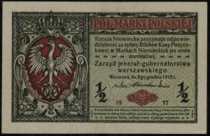 """1/2 marki polskiej, 9.12.1916; """"jenerał"""", seria A, nume..."""