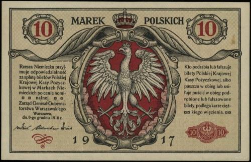 "10 marek polskich, 9.12.1916; ""Generał"", ""biletów"", ser..."