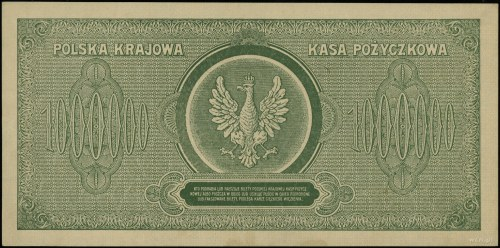 1.000.000 marek polskich, 30.08.1923; seria M, numeracj...