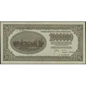 1.000.000 marek polskich, 30.08.1923; seria A, numeracj...