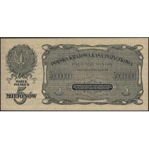 5.000.000 marek polskich, 20.11.1923; seria B, numeracj...