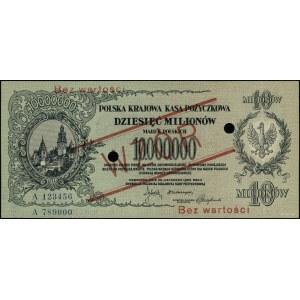 10.000.000 marek polskich, 20.11.1923; seria A 123456 /...