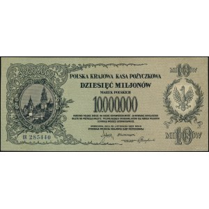 10.000.000 marek polskich, 20.11.1923; seria BX, numera...