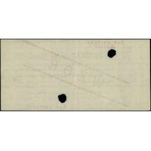 Przekaz na 50.000.000 marek polskich, 20.11.1923; numer...