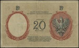 20 złotych, 15.07.1924; II emisja, seria A, numeracja 4...