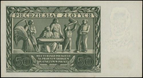 50 złotych, 11.11.1936; Józef Dąbrowski, seria AM, nume...