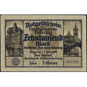 10.000 marek, 20.03.1923; numeracja 095760; Miłczak G5,...