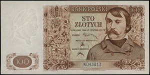 100 złotych, 15.08.1939; seria K, numeracja 043013; Luc...