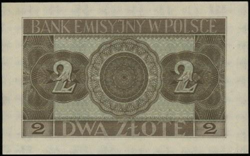 2 złote, 1.03.1940; seria A, numeracja 8569544; Lucow 7...