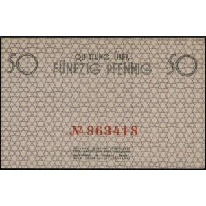 50 fenigów, 15.05.1940; czerwona numeracja 863418; Luco...