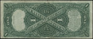Legal Tender Note; 1 dolar, 1917; seria T 16599398 A, c...