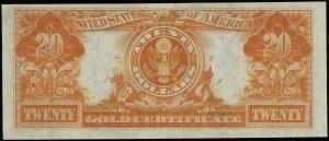 Gold Certificate; 20 dolarów w złocie, 1922; seria K 86...