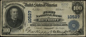 National Currency; First National Bank in Detroit - Mic...