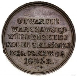 Medal na pamiątkę otwarcia połączenia kolejowego między...
