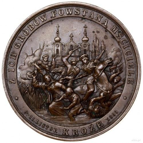 "Medal na pamiątkę ""rzezi kroskiej"", 1893, projektu Juli..."