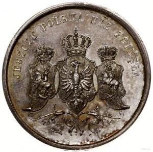 Medal patriotyczny; Aw: Ukoronowane herby Mazowsza, Pol...