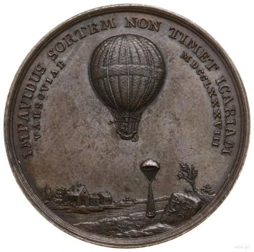 Blanchard Jean-Pierre (1753–1809); Medal na pamiątkę pi...