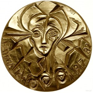 Zestaw medali rocznicowych wybitych z okazji piątego ro...