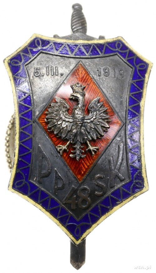 Oficerska odznaka pamiątkowa 48. Pułku Strzelców Kresow...