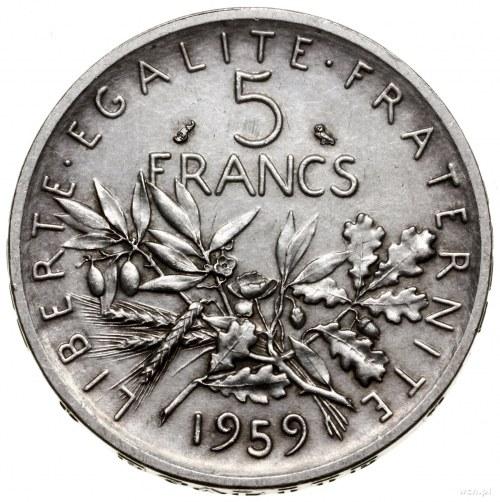 5 franków, 1959, mennica Paryż; ESSAI - próba; Gadoury ...