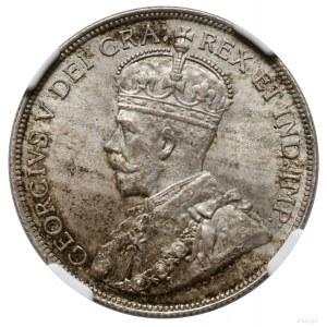 50 centów, 1912, mennica Ottawa; KM 25; ładna moneta w ...