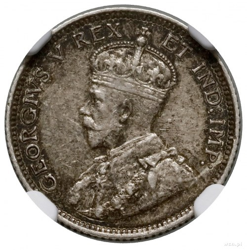 10 centów, 1911, mennica Ottawa; KM 17; moneta w pudełk...