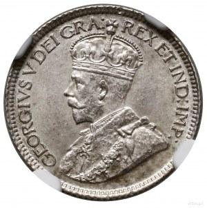 10 centów, 1920, mennica Ottawa; KM 23a; piękna moneta ...