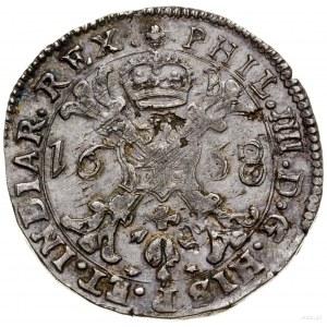 Flandria; 1/2 patagona, 1658, mennica Brugia; Delmonte ...