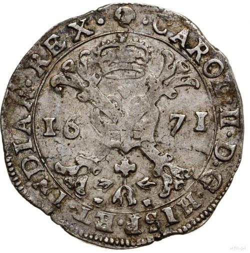 Brabancja; 1/2 patagona, 1671, mennica Bruksela; Delmon...