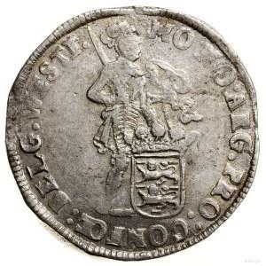 Talar (Zilveren dukaat), 1699; Aw: Rycerz stojący w pra...