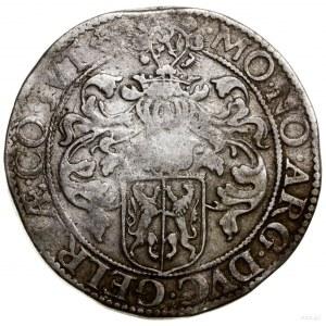 Talar (Rijksdaalder), 1600; Aw: Popiersie władcy trzyma...