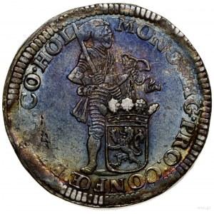 Talar (Zilveren dukaat), 1673; Aw: Rycerz stojący w pra...