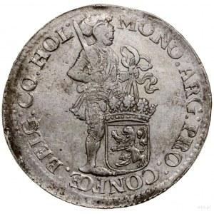 Talar (Zilveren dukaat), 1694; Aw: Rycerz stojący w pra...