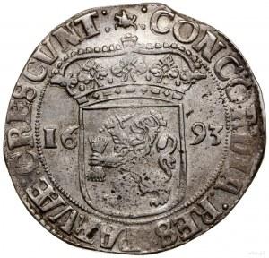 Talar (Zilveren dukaat), 1693; Aw: Rycerz stojący w pra...