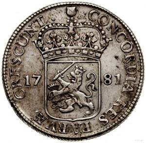 Talar (Zilveren dukaat), 1781; Aw: Rycerz stojący w pra...