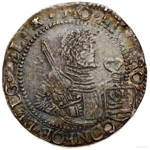 Talar (Rijksdaalder), 1629; Aw: Półpostać władcy w praw...